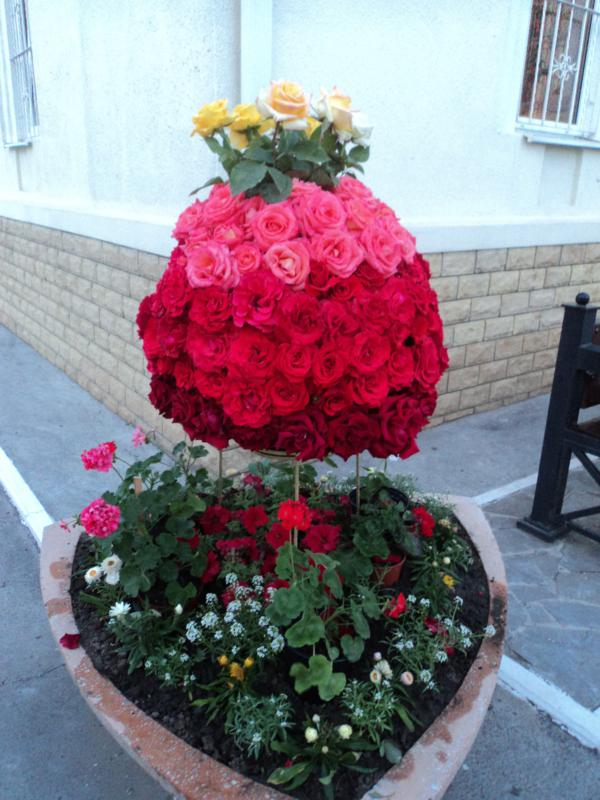 Пасхальная цветочная композиция